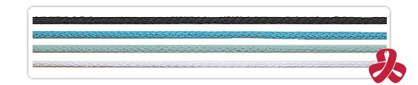 cotton strings - black, white, blue, turquoise