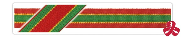 ribbon - a sample red and green
