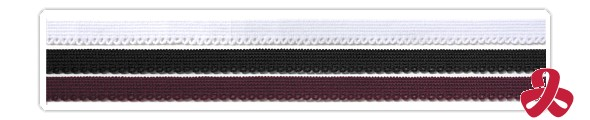 elastic lace - white, black, crimson-dark red