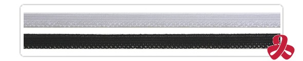 elastic lace - white, black
