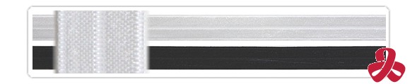 centre fold elastic - sample - black,white